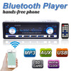 Brand New 12V BLUETOOTH 1-Din Stereo Radio MP3 USB/SD AUX Audio Player Car in Dash 60Wx4 Cell phone charger