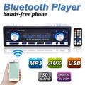 Nova marca 12 V BLUETOOTH 1-Din Estéreo Rádio MP3 USB/SD AUX Audio Player Do Carro em Traço 60Wx4 Celular carregador de telefone
