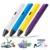 1.75mm abs/pla diy smart 3d impresión graffiti pen pen 3d pintura dibujo pen manija + filamento + adaptador para niños de diseño creativo