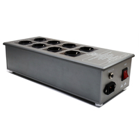 DHL Бесплатная Выборг VE80 8 каналов распределители питания и фильтры с 4 квадратных красный медь подключения ЕС schuko разъем