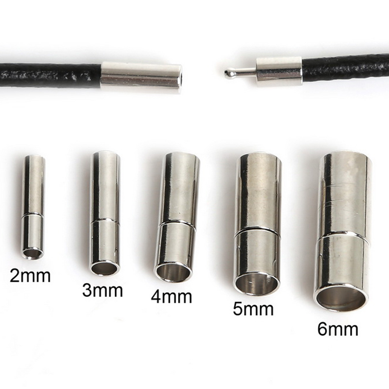 10pcs Alloy Magnetic Clasps Jewellery Black DIY Crafts Bracelet 4mm 5mm 6mm