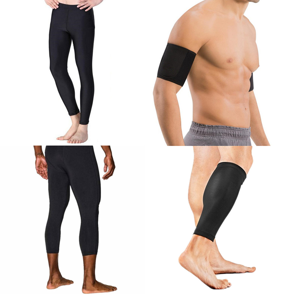 a5cee247d1 Hot body Shapers Waist-Trainer Pants Men's Shaper Arms Sleeves Hot Sweat  Legs Sleeves Weight Loss Compression Slimming Panties