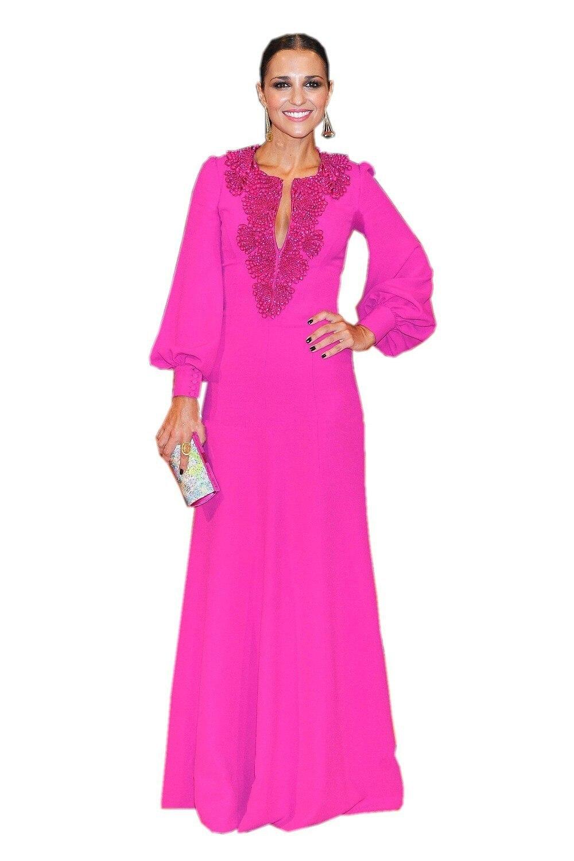 Baratos Hot Pink Dubai Kaftan Vestidos de Noche de La Manera 2017 ...