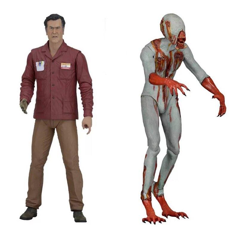 NECA Ash vs evil dead Character Ash williams & Eligos 16cm BJD Joints Moveable Pvc Action Figure Toys
