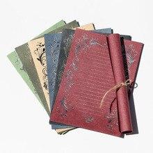 4 листа роскошный элегантный винтажный Ретро милый дизайн канцелярские бумаги блокнот письмо креативный бронзирующий венок бумага письмо