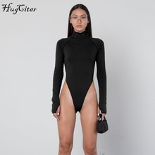 long sleeve high neck neon bodycon sexy Christmas bodysuit 2019 autumn winter women fashion casual slim fit body