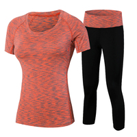 YD 2Pcs Yoga Suits New Fitness Women Wick Workout Sport Gym Clothes Running Pants Compression Tights