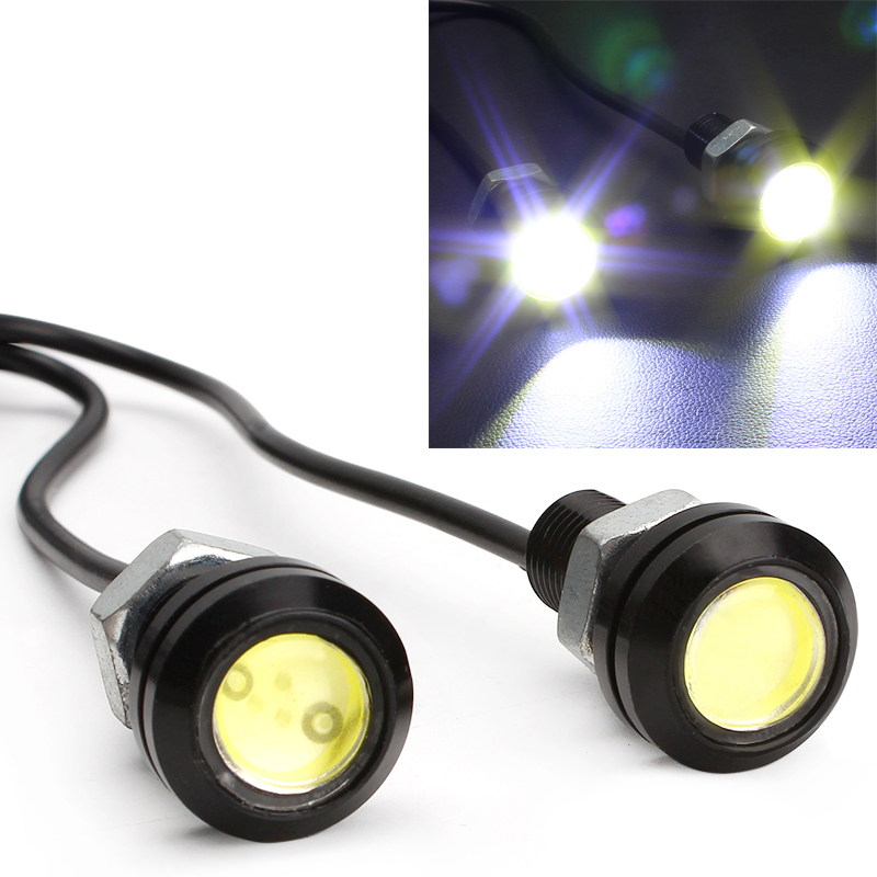 18mm Eagle Eye DIY COB DRL Daytime Running Light Led Car Reverse Parking Lamp Automotive Car Styling Auto Accessories leadtops car led lens fog light eye refit fish fog lamp hawk eagle eye daytime running lights 12v automobile for audi ae