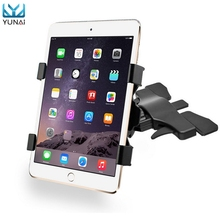 YUNAI 360 Degree Adjustable Universal Car CD Slot 7-10 Inches Tablet Mount Holder Stand For Ipad For Samsung Tablet Stand Holder