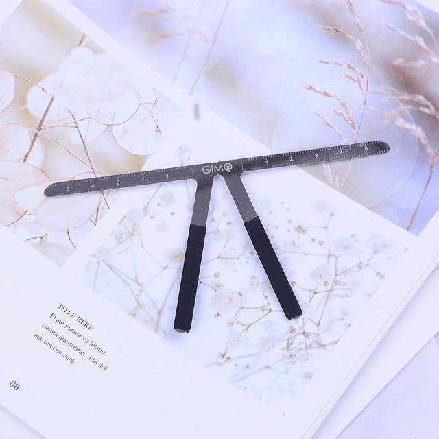 Permanent Metal Eyebrow Balance Ruler  Makeup Tattoo Eyebrow Ruler Measure Tool eyebrow Shaping Stencil Tools 1