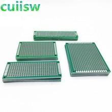 20 шт./лот 5x7 4x6 3x7 2x8 см двухсторонний медный Прототип PCB универсальная плата экспериментальная макетная пластина для arduino