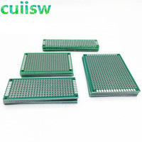 20 unids/lote 5x7 4x6 3x7 2x8 CM doble lado cobre prototipo PCB Placa de desarrollo Experimental Placa de desarrollo Universal para arduino