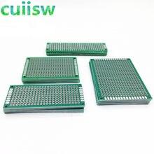 Plaque prototype double face PCB en cuivre universel pour Arduino, planche de développement expérimental, 2x 8, 4x 6, 5x7 cm, 20 pièces/lot