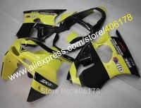 Hot Sales,Motocycle Bicycle fairings for Kawasaki Ninja ZX6R ZX-6R 98 99 ZX 6R 1998 1999 Yellow and Black Body kit abs fairing