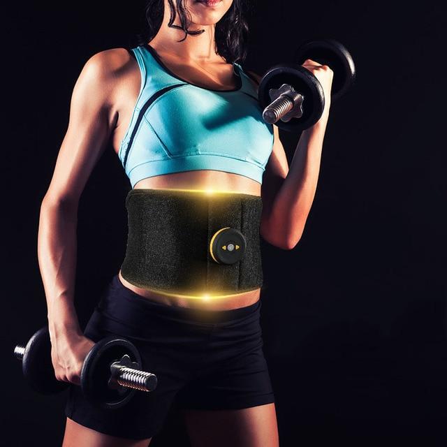 Vibration Fitness Massager Waist Support EMS Stimulation Fat Burning Slimming Body Belt Abdominal Muscle Stimulator Home Gym