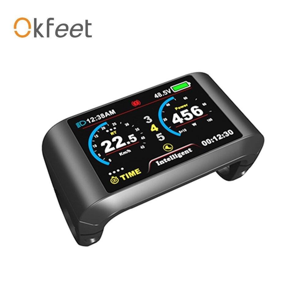 okfeet bicycle display Bafang750C for 8fun mid drive motor BBS01 BBS02 BBSHD 750C LCD colour display