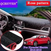Car Styling Anti slip Mat Silicone For Hyundai Elantra 2016 2018 RHD&LHD Rose Pattern Dashboard Mat Protective Pad Shade Cushion