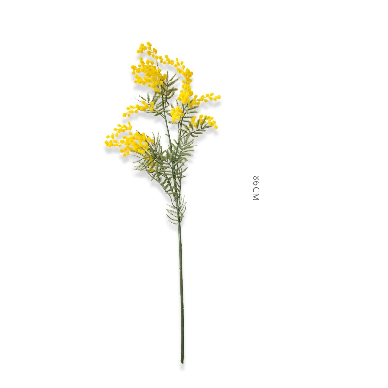 INDIGO- 9PCS Australia Acacia Yellow Yellow Mimosa Pudica Spray Silk - Furnizimet e partisë - Foto 3