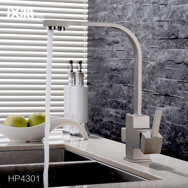 Медь холодной очищенной воды кран питьевой воды кухня растительное умывальника с одной раковина кран функция