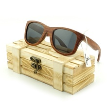 B016 Eyewear Real Wooden Sunglasses 100% Wood Frame Sunglasses with Wood Case Fashion Wood Sun Glasses