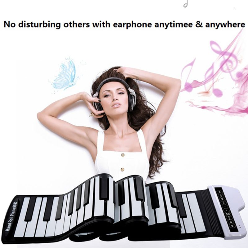 61 Keys Electronic Roll up Piano Universal Flexible Soft Keyboard Portable Standard Silicone Piano 140 Tones 128 Rhythm 8o Songs61 Keys Electronic Roll up Piano Universal Flexible Soft Keyboard Portable Standard Silicone Piano 140 Tones 128 Rhythm 8o Songs