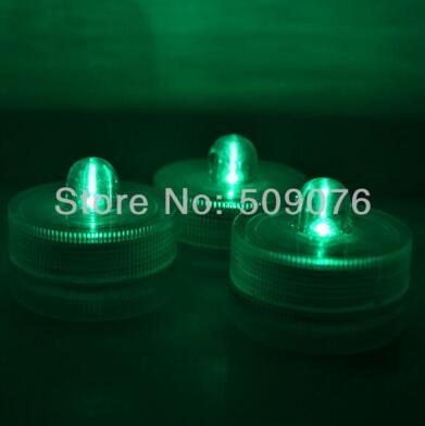 24 шт./лот 8 видов цветов беспламенный свечах привело свечи водонепроницаемый светодиодные свечи для свадьбы - Цвет: green