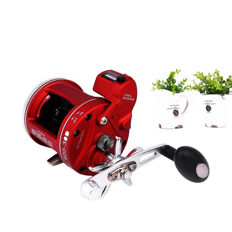 все цены на ACL Bait Lure Wheel Reel Rod Line Pole 11+1BB Fishing Fish Right 30 w/Count онлайн