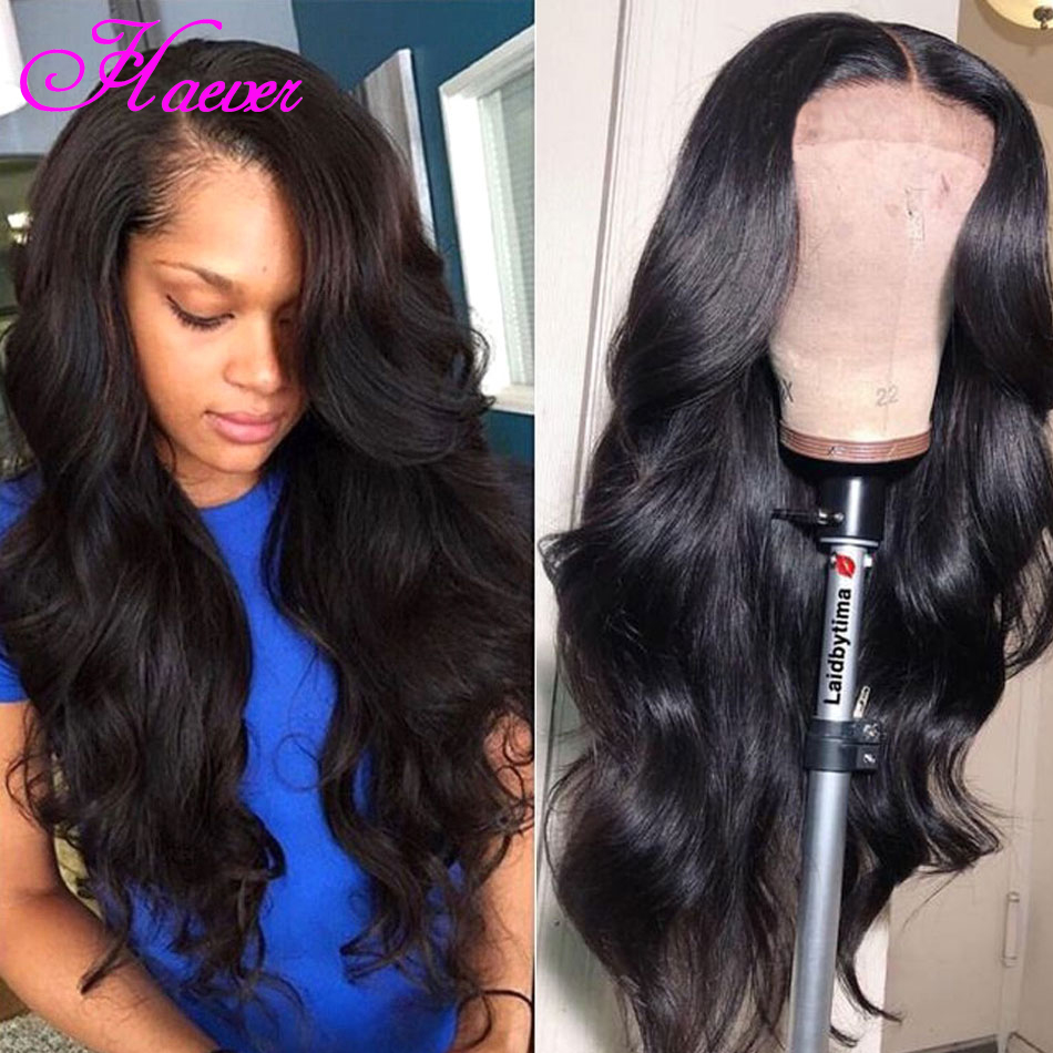 Haever Brazilian Body Wave Wig 4x4 13*4 Closure Wig Human Hair Brazilian Lace Front Wigs For Black Women Pre Plucked Remy 150%(China)