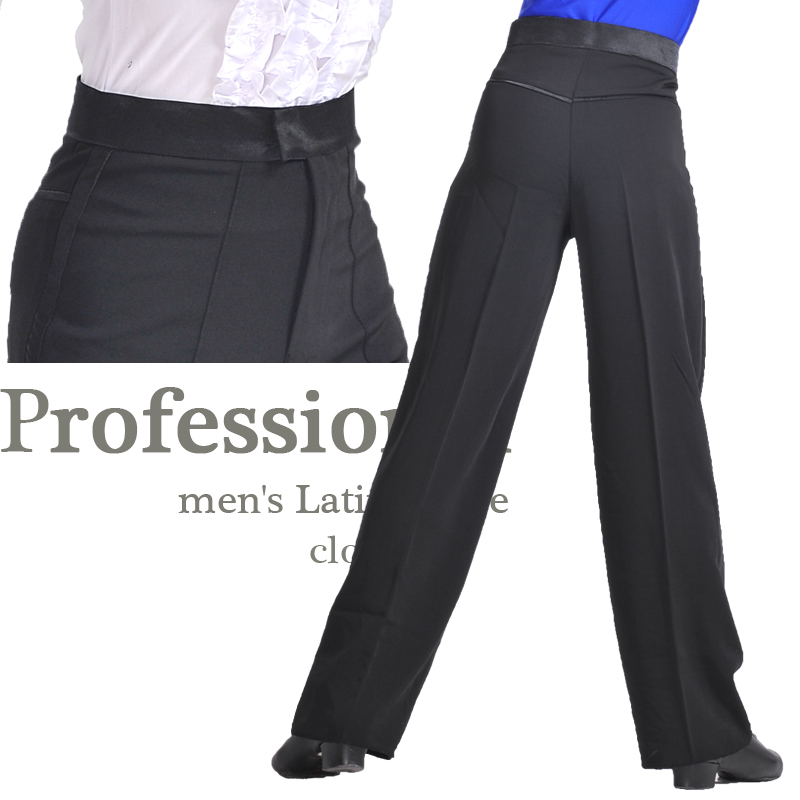 Hot Sale Professional Kids Boys&Men Black Latin Dance Pants Ballroom Modern Latin Dance Pants For Adults