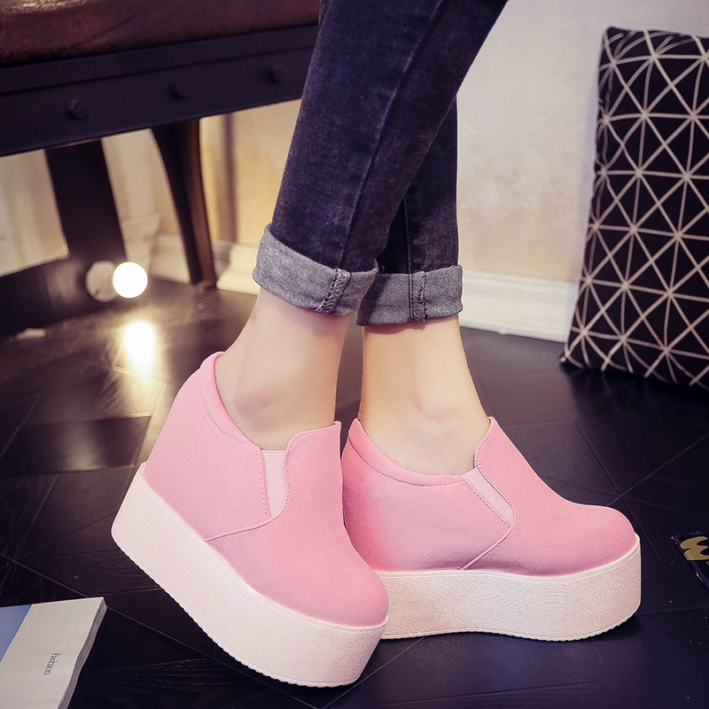 Lucyever Platform Shoes Woman Spring Autumn 2019 New Arrival Fashion Creepers Ladies Flats Casual Shoes Hidden Wedges Creeper