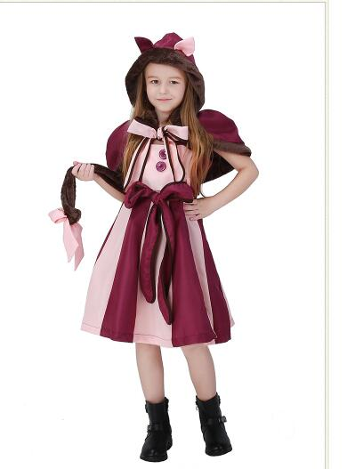 Hot Sale Purple Girls Wonder Cat Cosplay Clothing Movie Alice In -1750