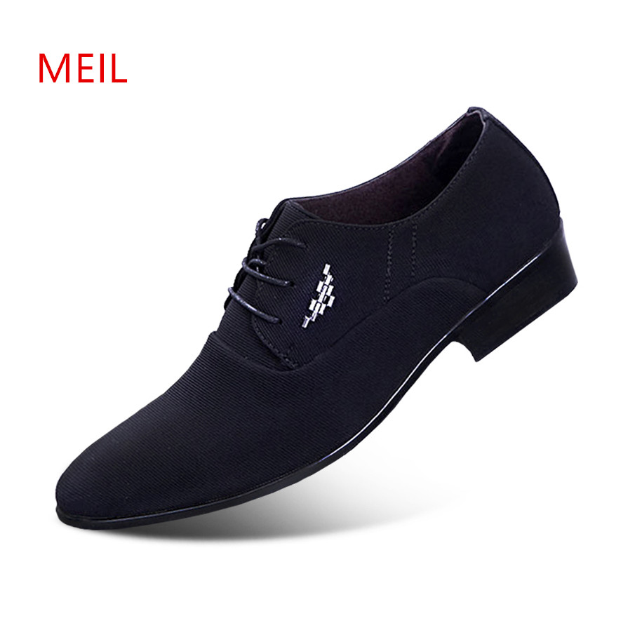 2018 Fashion Office Business Formal Shoes Men Elegant Wedding Classic Mens Pointed Toe Dress Shoes Casual Oxfords Shoes For Men-in Formal Shoes from Shoes    1