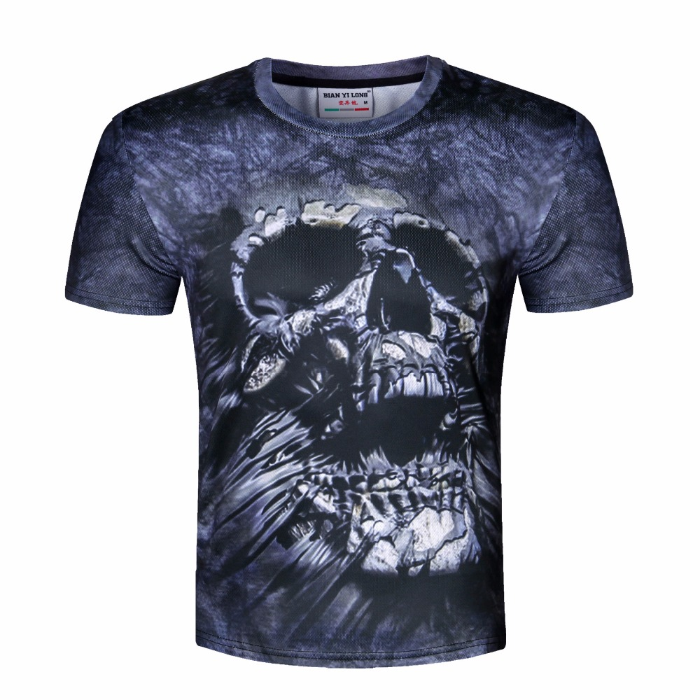 New unisex t shirt 3d print tshirt printed skull o neck t for Print one t shirt