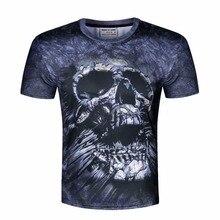 New Unisex T shirt 3d Print Tshirt Printed Skull O-NECK T-Shirt Summer Fashion Short Sleeve Tees Brand Clothing Men Tops M-4XL