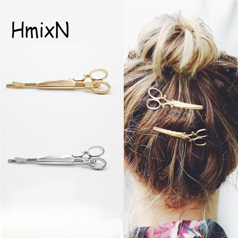 NEW Fashion Hairpins Round triangle Moon Hair pins Metal head jewelry for Women Lady Barrette Clip Hair Accessories Girls Holder 5