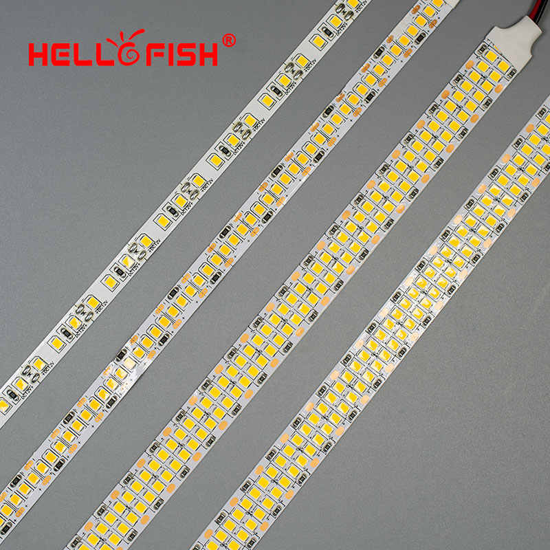 Lampu LED Strip 2835 12V 24V SMD 600 1200 2400 LED Chips Pita LED Light 480 LED Putih hangat Putih
