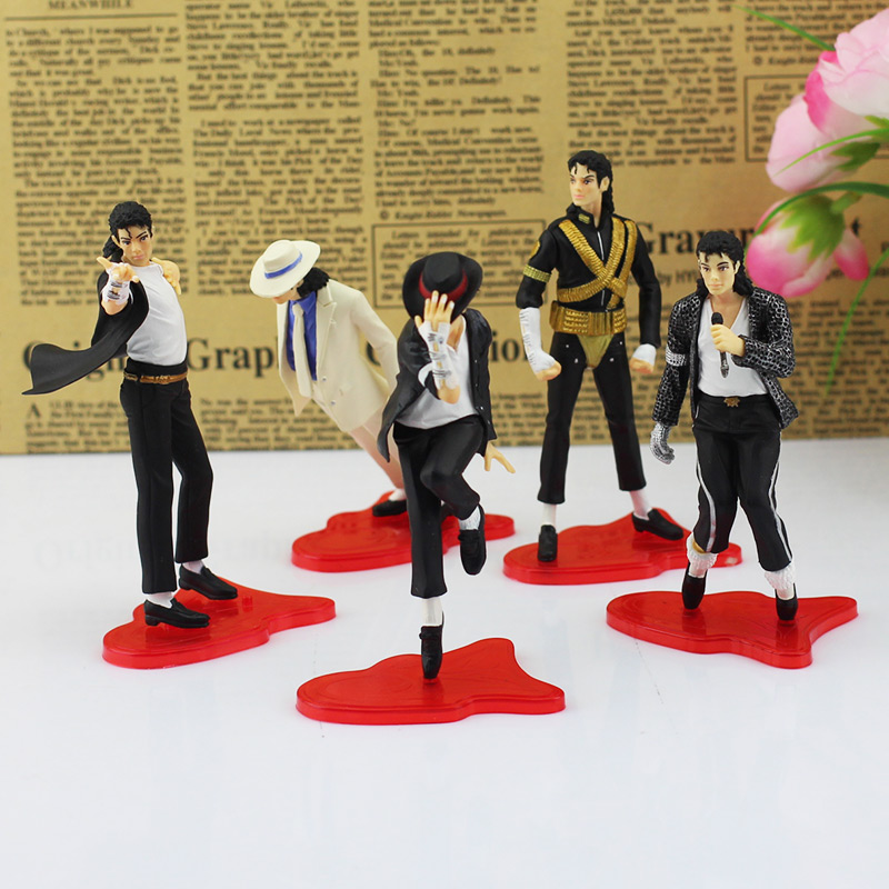 New Cool Michael Jackson ICON PVC Figure Jackson Figures Toy Collectable Model Toys Set of 5 PCS Free Shipping