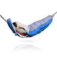 Outdoor Portable Double 190T polyester pongee Camping Hammock sleeping bag underquilt 4 season