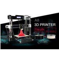Anet A8 3D Printer High Precision Prusa I3 3D Printer PLA Filament As Gift Hot Bed