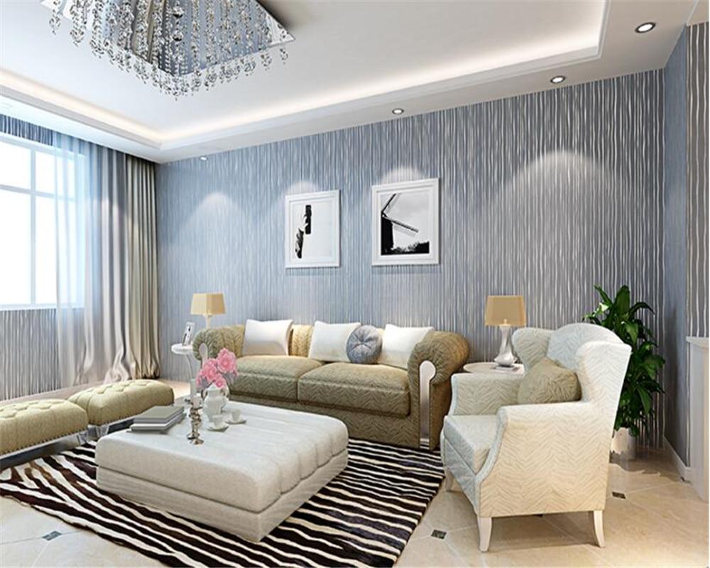 Beibehang moderne minimaliste 3d papier peint mode profil bas luxe salon chambre TV fond papel de parede papier peint