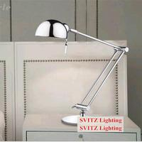 Free shipping Chrome modern Foldable desk lamp sconce & switch study room E27 led adjustable Table Lamp Bedside reading Lighting