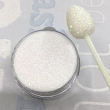 ホワイト玉虫色ベビーパープルピンク透明虹グリッター 0.2 ミリメートル 1/128 3D 釘つま先のヒントグリッター装飾 N50