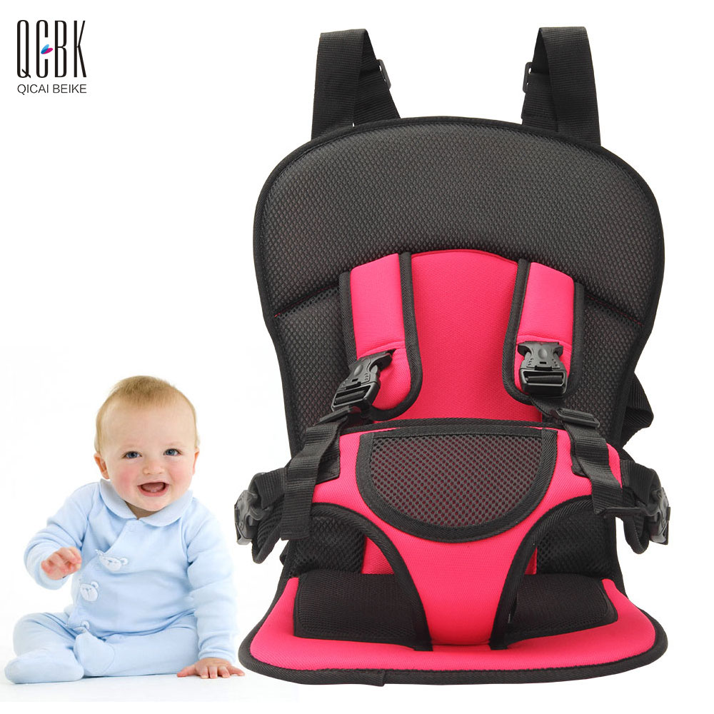 aliexpresscom buy portable baby car seat five points kids safety seats childrens chairs isofix thickening cotton travel car seat three colors from