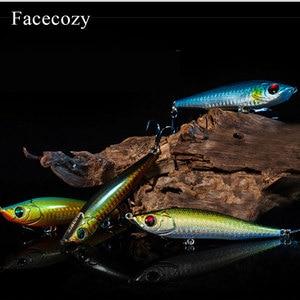 Image 2 - Facecozy Fishing Lures Luminous Minnow Artificial Bait 1Pc 6.5/8/9CM Multi color Transparent Swimbait Suitable for Trolling