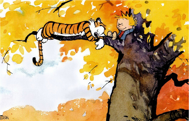 Custom Calvin And Hobbes Retro Poster, Home Decor Wall Sticker 20x30inches Free Shipping J175
