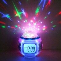 Alarm Clock Despertador Watch Reloj Saat Creative Digital Colorful Projection Clock Music Star Calendar Alarm Clocks