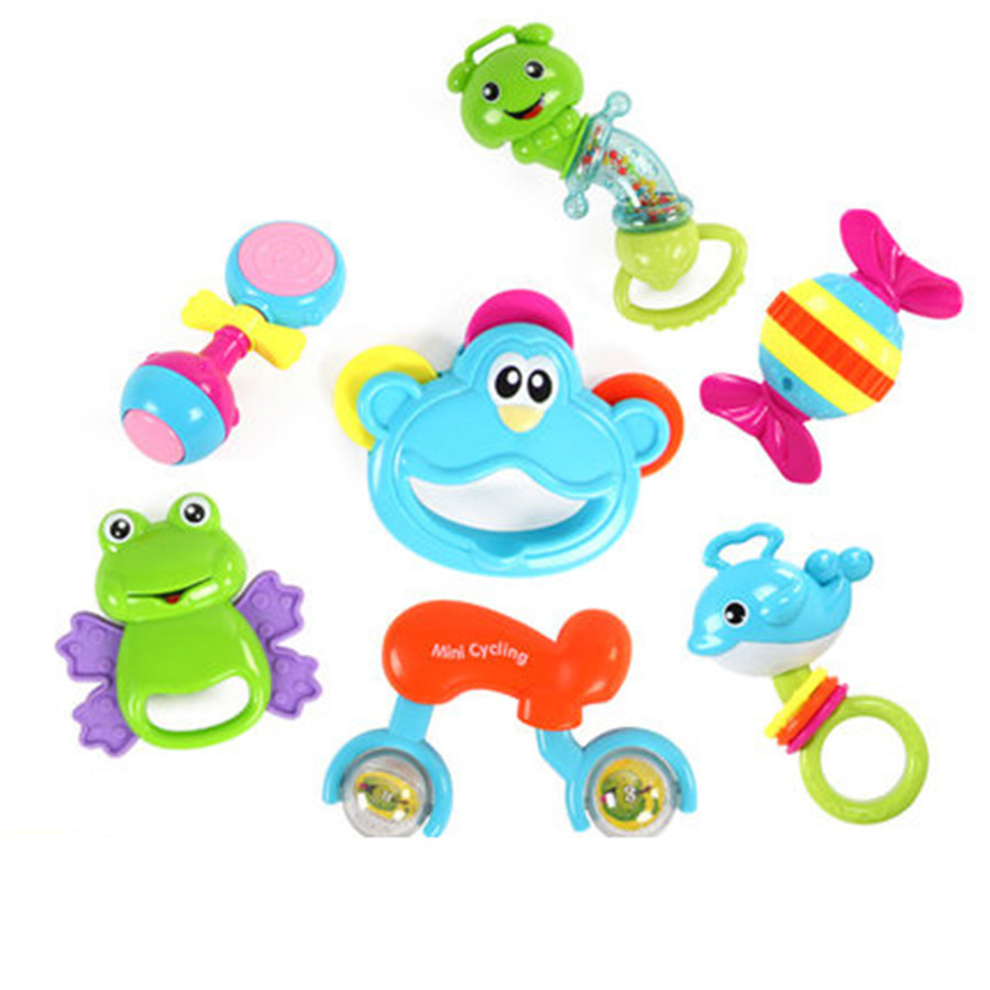 Baby Rattle Hanging Toy Baby Toys Rattles Animal Plastic ...