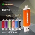 SUMSONIKO USB 2.0 OTG Pen Drive High Speed Phone USB Flash Drive Fashion 10 Colors Mobile USB Flash Disk 64GB 32GB 16GB 8GB 4GB
