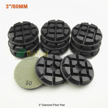 "SHDIATOOL 12pcs 80mm  diamond floor sanding disc #50 SA622 3"" Resin bond diamond floor renew polishing pads"