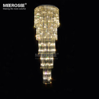 Modern Glass Chandelier Light Fixture Staircase Lustre Stairs Foyer Crystal Stair Lamp For Hotel And Project